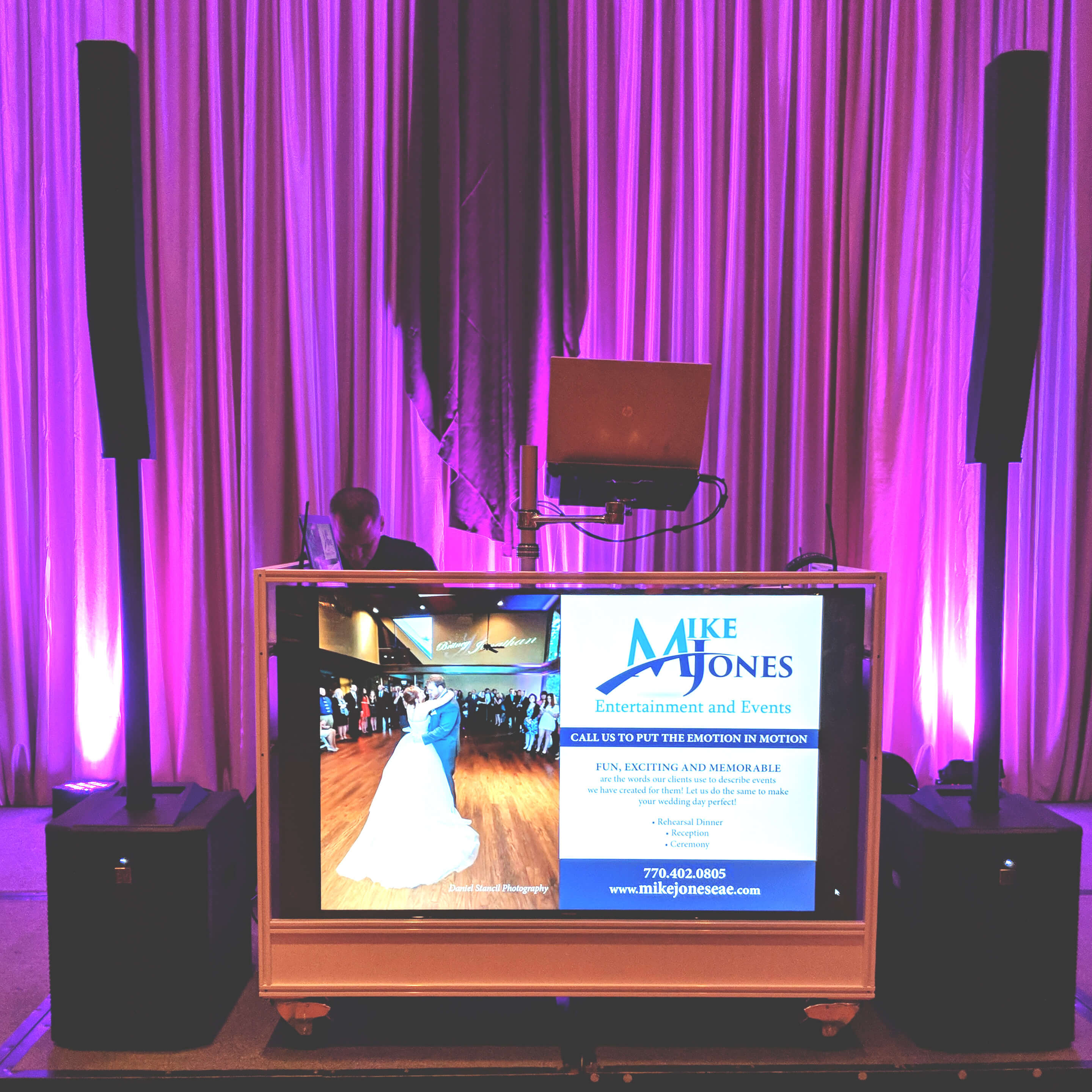 Mike Jones Entertainment and Events   Custom Video DJ Facade